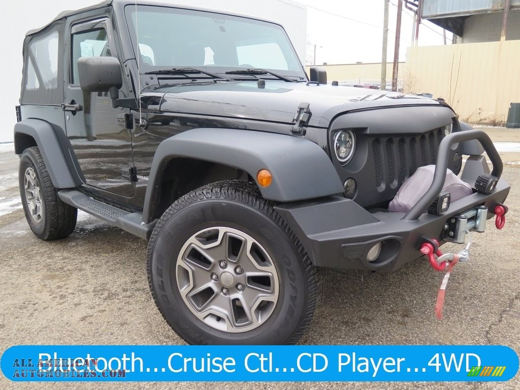 2014 Wrangler Sport 4x4 - Black / Black photo #1