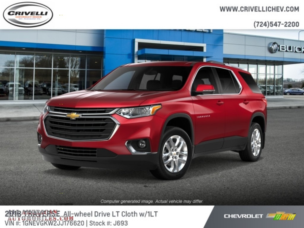 2018 Traverse LT AWD - Cajun Red Tintcoat / Jet Black photo #1