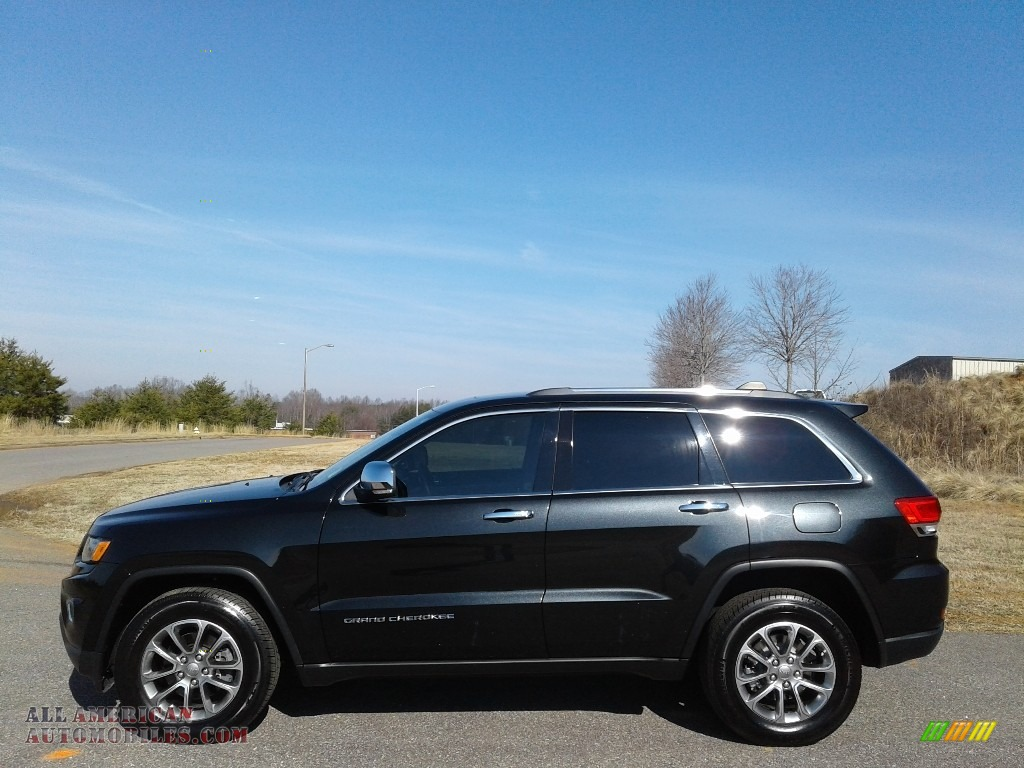2015 Grand Cherokee Limited - Brilliant Black Crystal Pearl / Black/Light Frost Beige photo #1
