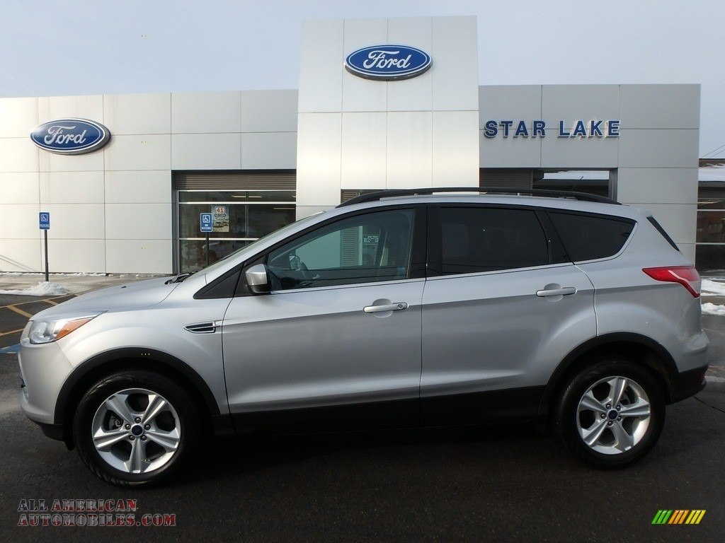 2015 Escape SE 4WD - Ingot Silver Metallic / Charcoal Black photo #1