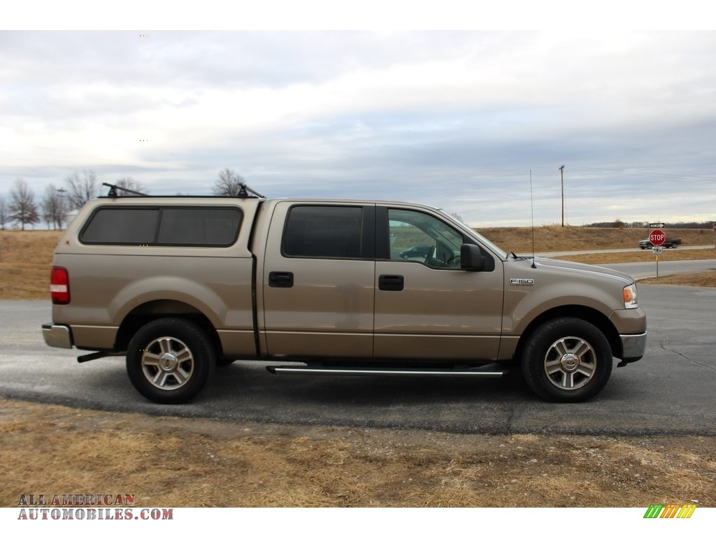2005 F150 XLT SuperCrew - Arizona Beige Metallic / Tan photo #4