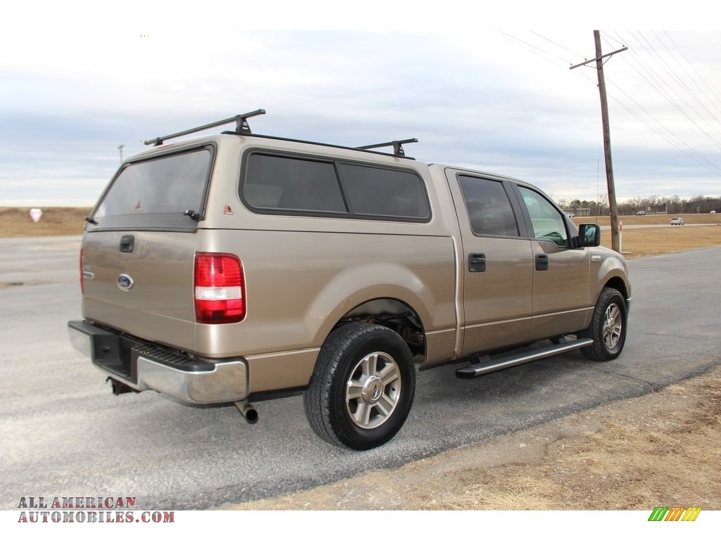 2005 F150 XLT SuperCrew - Arizona Beige Metallic / Tan photo #7