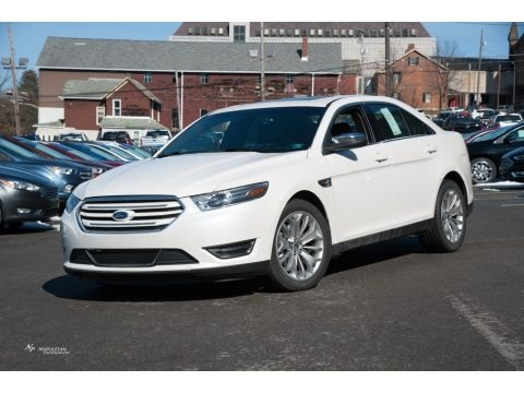 White Platinum 2018 Ford Taurus Limited AWD