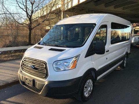 Oxford White 2017 Ford Transit Wagon XLT 350 MR Long