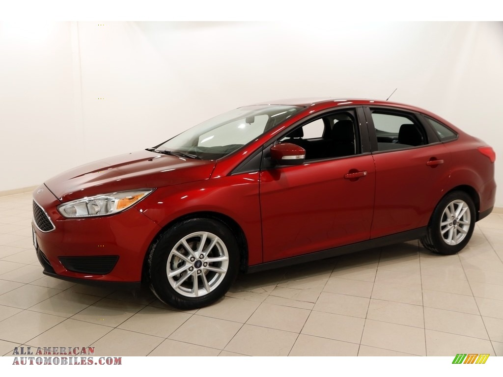 2016 Focus SE Sedan - Ruby Red / Charcoal Black photo #3