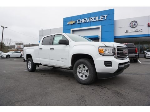 Summit White 2018 GMC Canyon Crew Cab