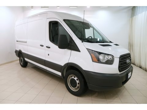 Oxford White 2017 Ford Transit Van 250 MR Long