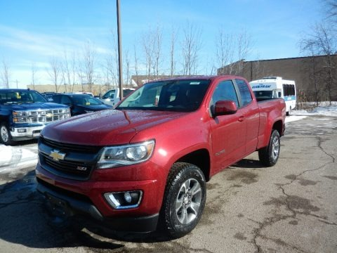 Cajun Red Tintcoat 2018 Chevrolet Colorado Z71 Extended Cab 4x4
