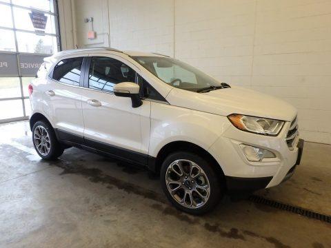 White Platinum 2018 Ford EcoSport Titanium 4WD