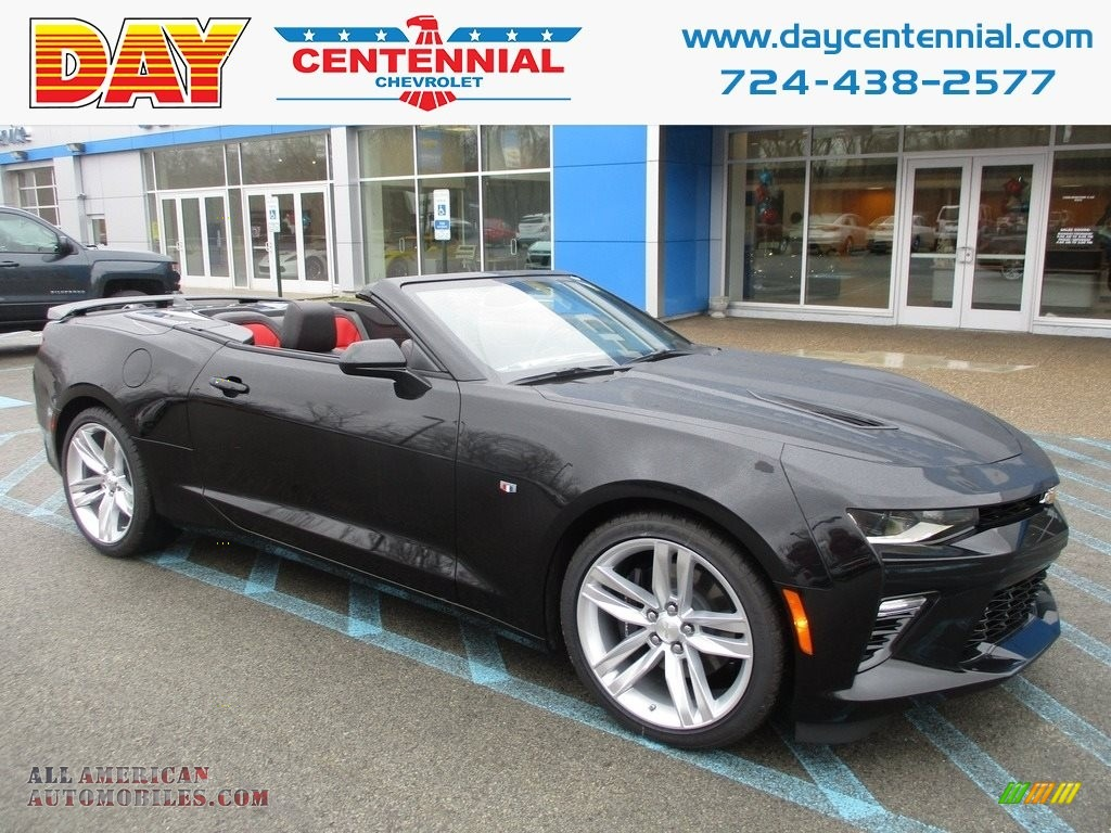 2018 Camaro SS Convertible - Black / Adrenaline Red photo #1