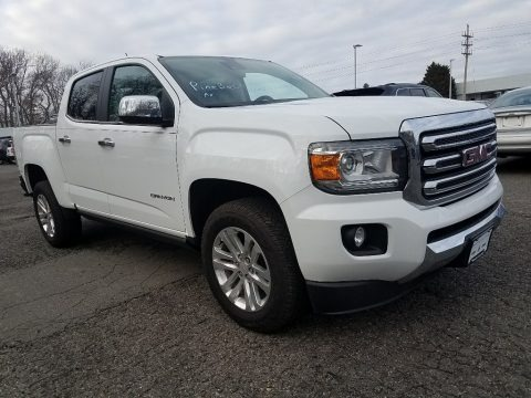 Summit White 2017 GMC Canyon SLT Crew Cab