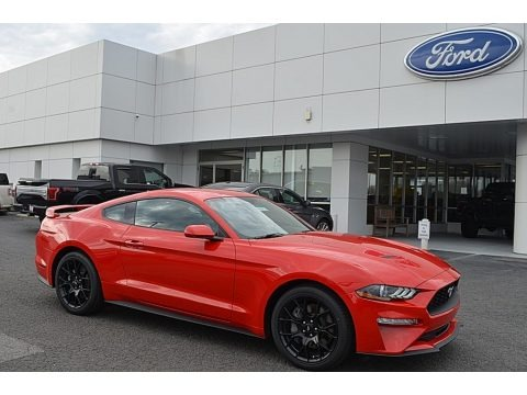 Race Red 2018 Ford Mustang EcoBoost Fastback