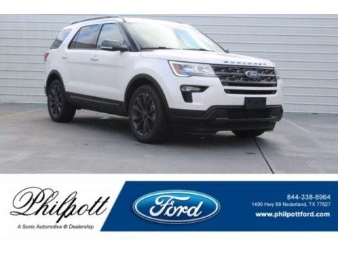 White Platinum 2018 Ford Explorer XLT