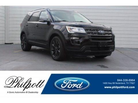 Shadow Black 2018 Ford Explorer XLT