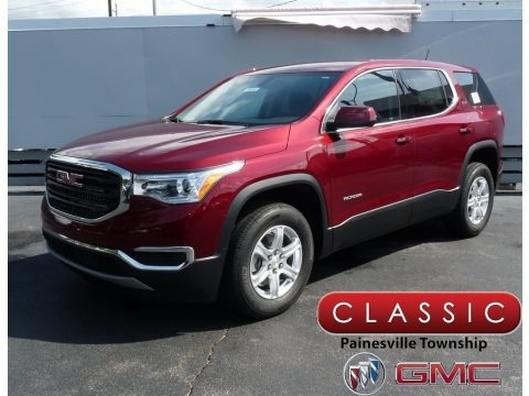 Crimson Red Tintcoat 2018 GMC Acadia SLE AWD
