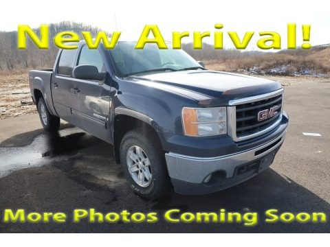 Midnight Blue Metallic 2009 GMC Sierra 1500 SLE Crew Cab 4x4