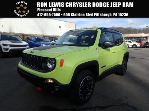 Hypergreen 2017 Jeep Renegade Trailhawk 4x4