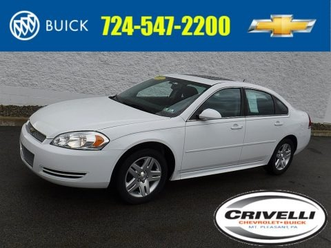 Summit White 2012 Chevrolet Impala LT