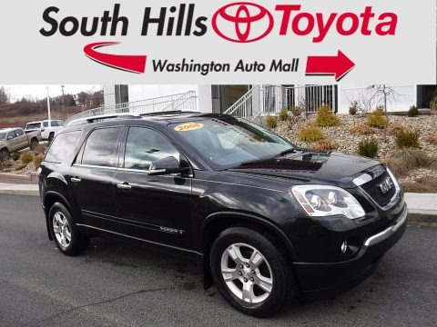 Carbon Black Metallic 2008 GMC Acadia SLT AWD