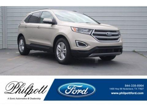 White Gold 2018 Ford Edge SEL