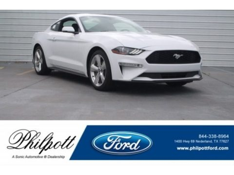 Oxford White 2018 Ford Mustang EcoBoost Premium Fastback