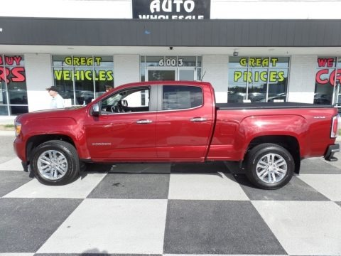 Cardinal Red 2017 GMC Canyon SLT Crew Cab 4x4