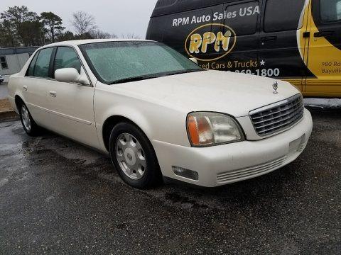 White Diamond Pearl 2002 Cadillac DeVille Sedan