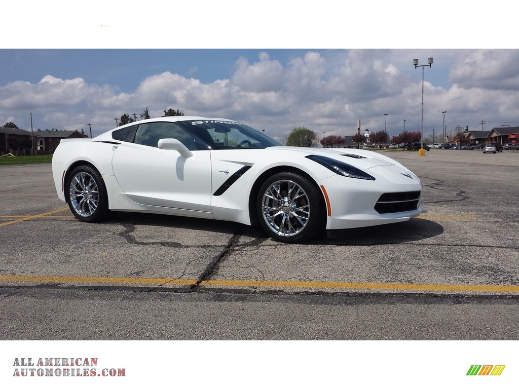 2016 Corvette Stingray Coupe - Arctic White / Jet Black photo #1