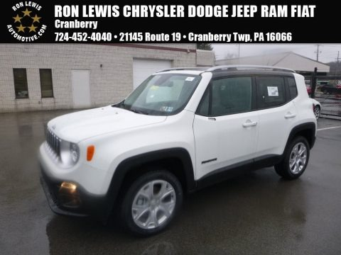 Alpine White 2017 Jeep Renegade Limited 4x4