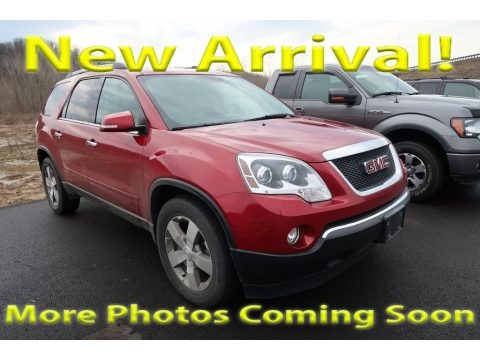Crystal Red Tintcoat 2012 GMC Acadia SLT AWD