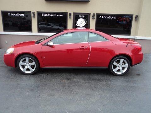 Crimson Red 2007 Pontiac G6 GT Convertible