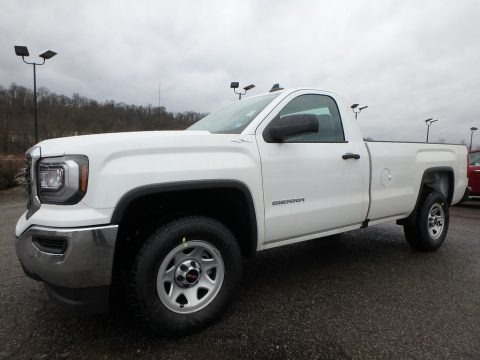 Summit White 2018 GMC Sierra 1500 Regular Cab 4WD