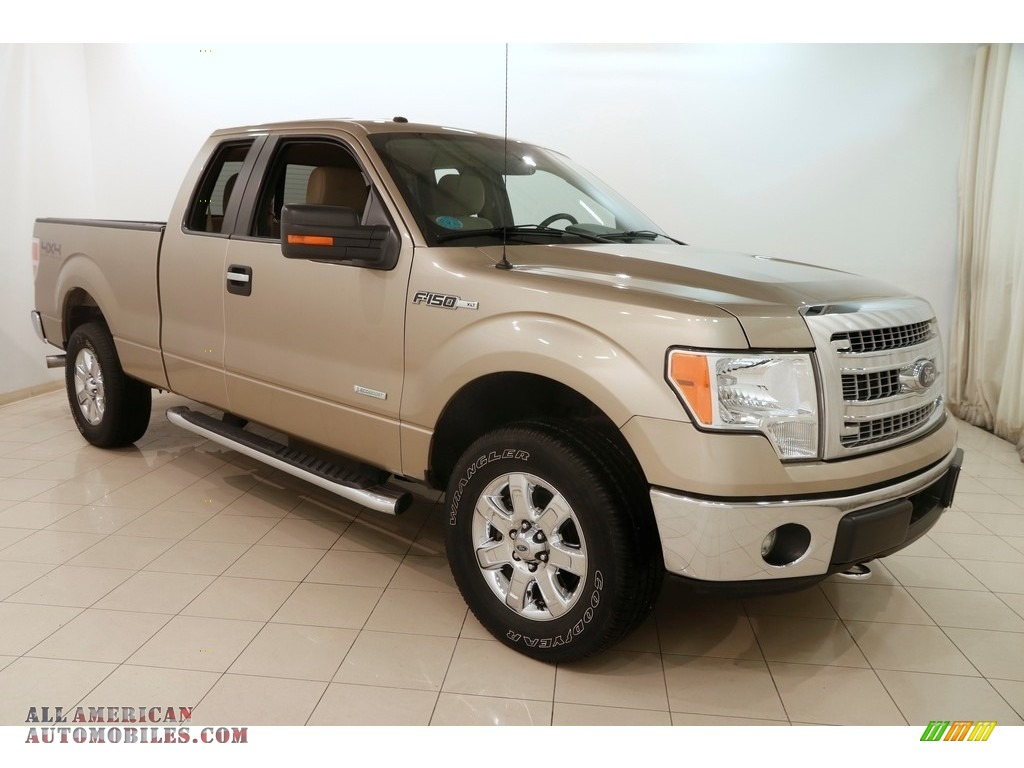 2014 F150 XLT SuperCab 4x4 - Pale Adobe / Pale Adobe photo #1
