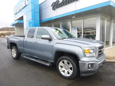 Stone Blue Metallic 2015 GMC Sierra 1500 SLE Double Cab 4x4