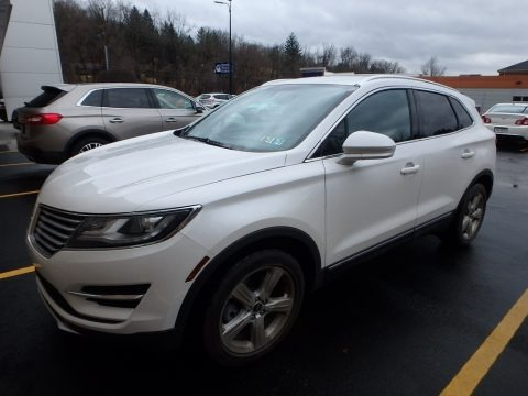 White Platinum Metallic Tri-coat 2015 Lincoln MKC AWD