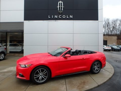 Race Red 2017 Ford Mustang EcoBoost Premium Convertible