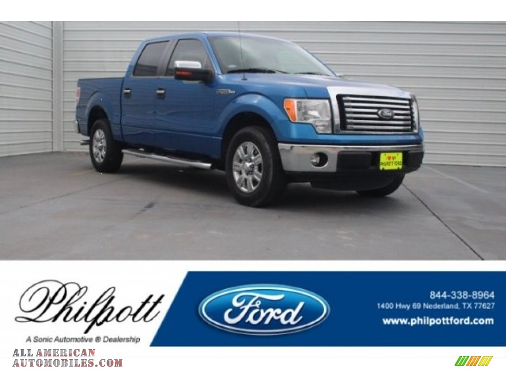 2012 F150 XLT SuperCrew - Blue Flame Metallic / Steel Gray photo #1