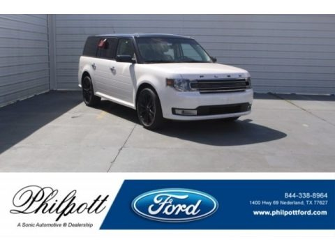 White Platinum 2018 Ford Flex SEL