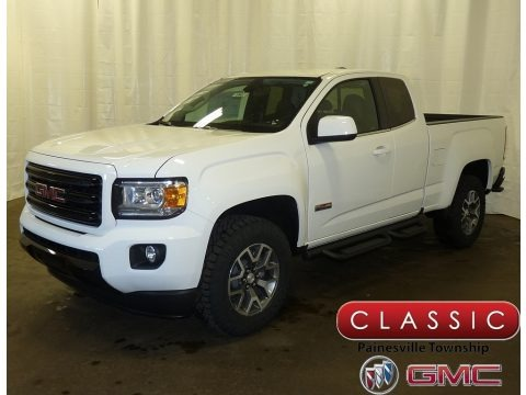 Summit White 2018 GMC Canyon All Terrain Extended Cab 4x4