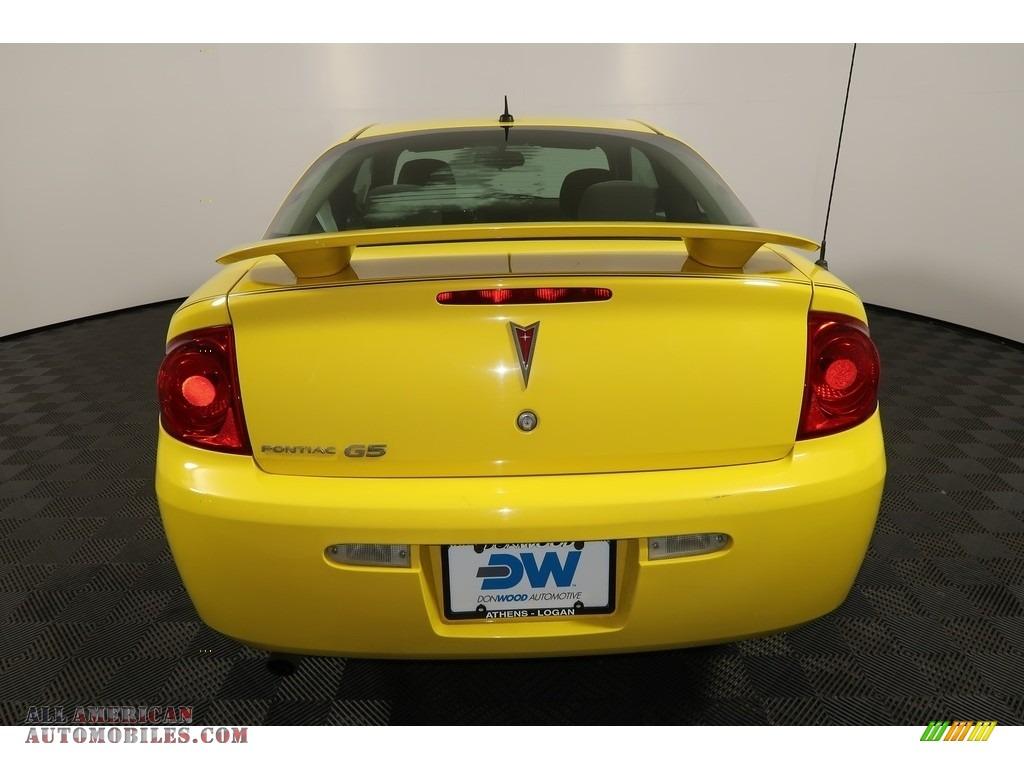 2008 G5  - Competition Yellow / Ebony photo #9