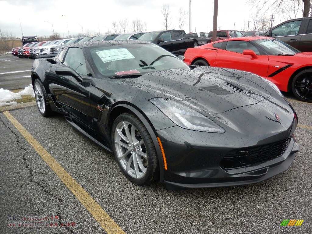 2019 Corvette Grand Sport Coupe - Shadow Gray Metallic / Gray photo #3
