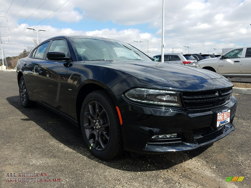 2018 Charger GT AWD - Pitch Black / Black photo #1