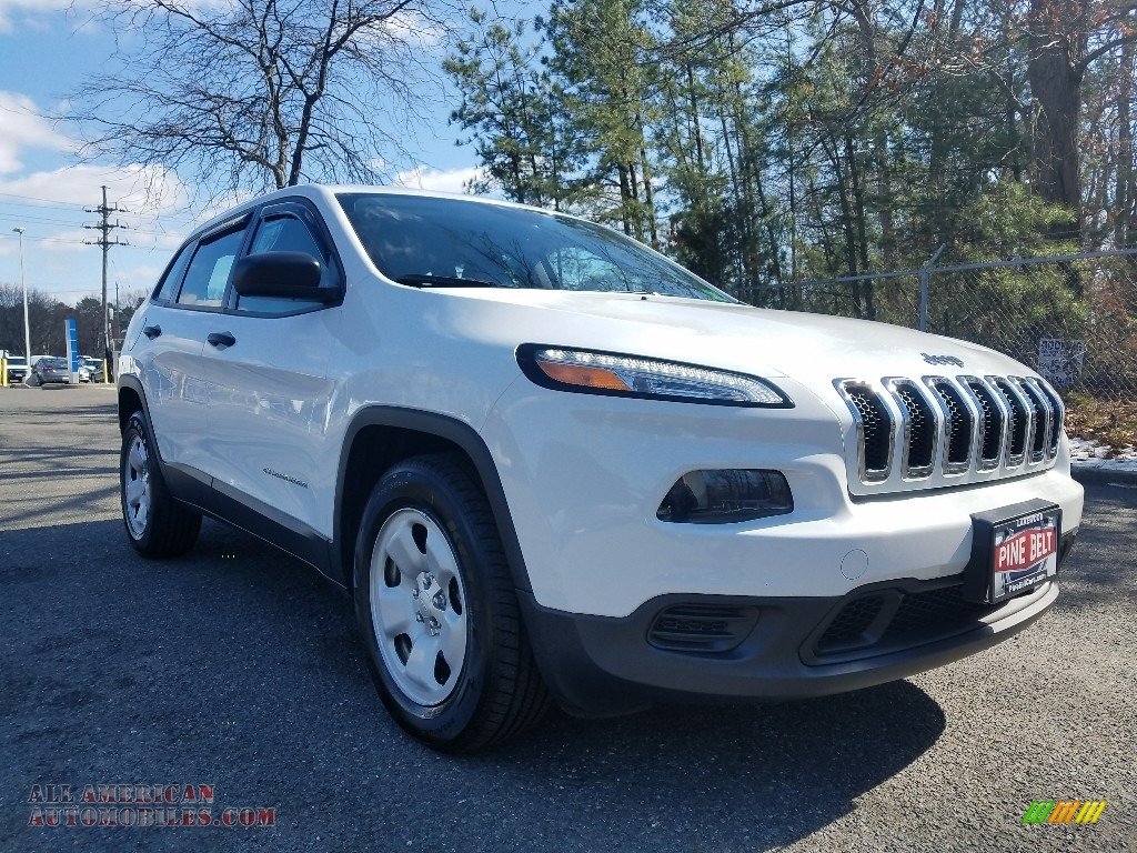 Bright White / Iceland - Black/Iceland Gray Jeep Cherokee Sport