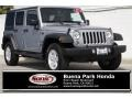 Jeep Wrangler Unlimited Sport 4x4 Billet Silver Metallic photo #1