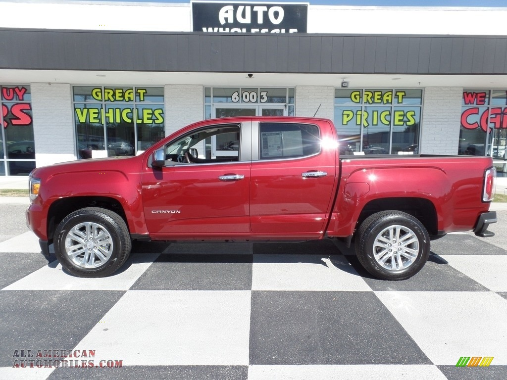 2018 Canyon SLT Crew Cab - Cardinal Red / Cocoa/­Dune photo #1