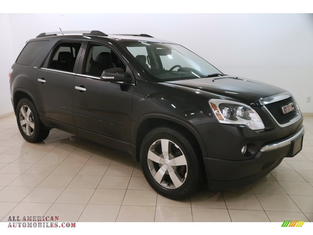 2012 Acadia SLT - Carbon Black Metallic / Ebony photo #1