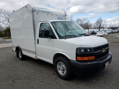 Summit White 2018 Chevrolet Express Cutaway 3500 Moving Van