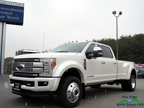 White Platinum 2018 Ford F450 Super Duty Platinum Crew Cab 4x4