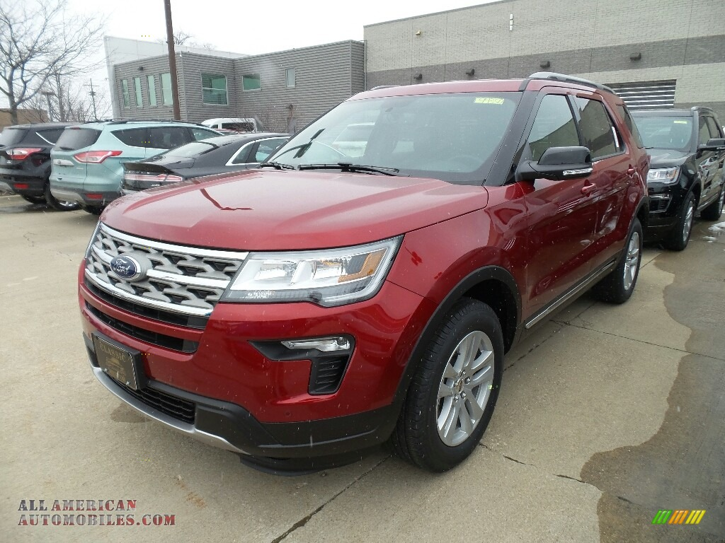 2018 Explorer XLT 4WD - Ruby Red / Ebony Black photo #1