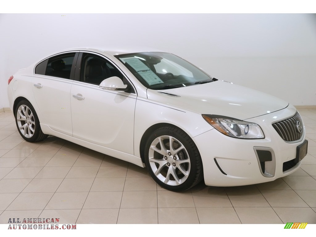 White Diamond Tricoat / Ebony Buick Regal GS